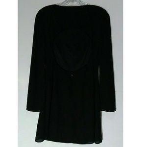 Express Dresses - Express Dress Cut Out Back Long Sleeve Tunic Mini